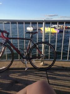 My bike also enjoyed the lake.
